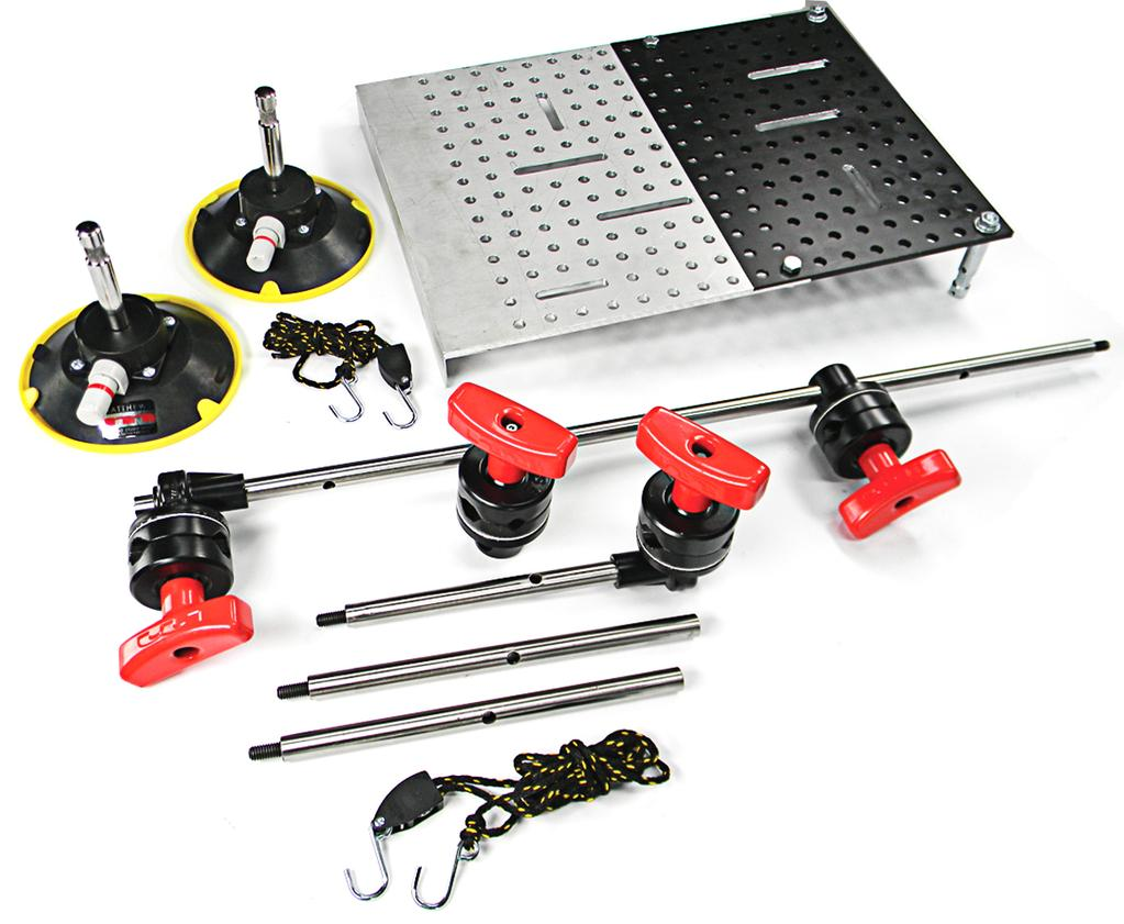 The Matthews Brauer Hostess Tray Door Mount Kit comes with everything shown above.