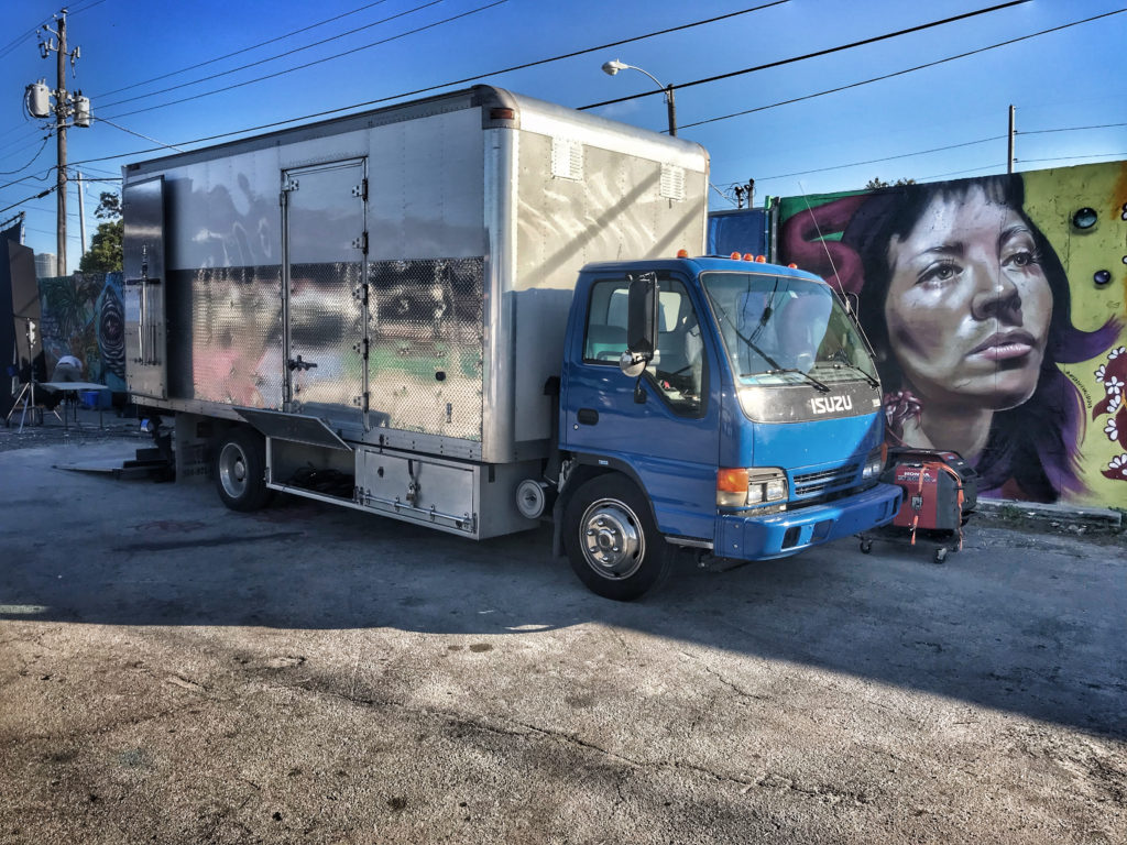 Dave's Grip & Lighting grip truck in Wynwood Miami